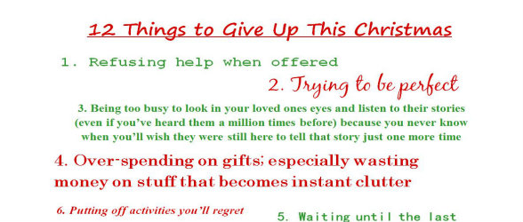 12 Things to Give Up This Christmas