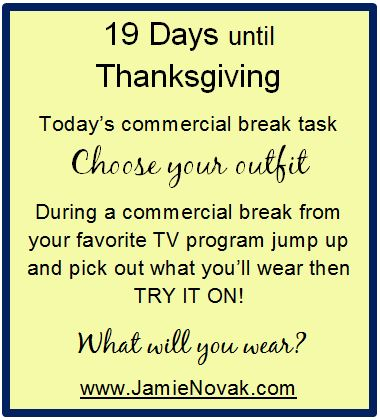 jamie novak, holiday, stress, to do list, cards, turkey, cook