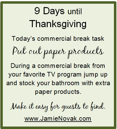 thanksgiving, stress, paper, clean, organize, guests