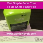 to be shred stamp feature