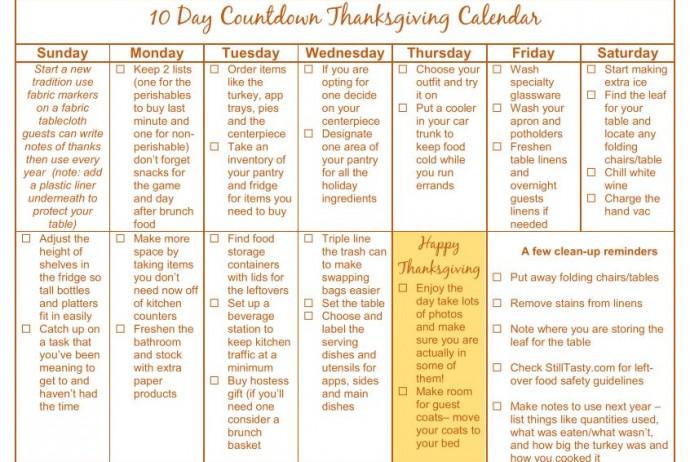 2015 Thanksgiving Countdown Calendar For Kids Printable | Calendar ...